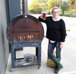 Pizza oven with Anne